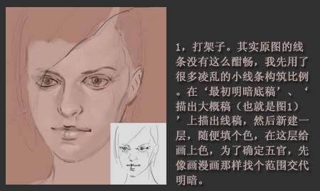 PS鼠绘一幅西方女性头像的油画教程-2